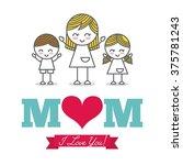 happy mothers day design  | Shutterstock .eps vector #375781243