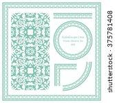 vintage frame pattern set 008... | Shutterstock .eps vector #375781408