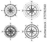 set of compass navigation dials ... | Shutterstock .eps vector #375782560