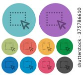 color drag flat icon set on...