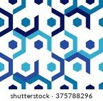 seamless pattern of geometric... | Shutterstock .eps vector #375788296