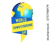 world down syndrome day. | Shutterstock .eps vector #375798979