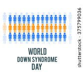 world down syndrome day. | Shutterstock .eps vector #375799036