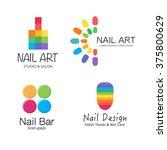 vector logotype design for nail ... | Shutterstock .eps vector #375800629