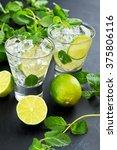 mojito cocktail | Shutterstock . vector #375806116