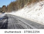 Frosted Road In Winter