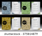 set of covers design  annual... | Shutterstock .eps vector #375814879