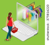 e commerce  pay online and on... | Shutterstock .eps vector #375816220