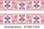 embroidered pattern on... | Shutterstock .eps vector #375817324