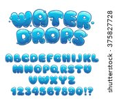 cartoon water drops font  funny ...