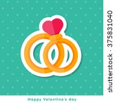 happy valentine day icon in... | Shutterstock .eps vector #375831040
