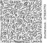 vector grunge hand draw vintage ... | Shutterstock .eps vector #375834793