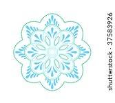 unique mandala shape | Shutterstock .eps vector #37583926