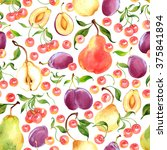 seamless watercolor pattern... | Shutterstock . vector #375841894