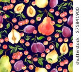 seamless watercolor pattern... | Shutterstock . vector #375841900