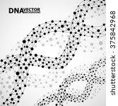 abstract dna spiral  molecule... | Shutterstock .eps vector #375842968