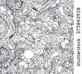 seamless doodle vector pattern... | Shutterstock .eps vector #375843928