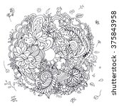 floral doodle composition with...   Shutterstock .eps vector #375843958