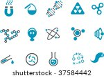 vector icons pack   blue series ... | Shutterstock .eps vector #37584442