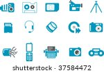 Vector icons pack - Blue Series, hi-tech collection - stock vector