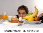 young man having a healthy... | Shutterstock . vector #375846910