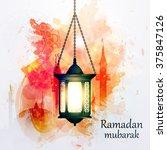 vector illustration ramadan... | Shutterstock .eps vector #375847126