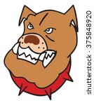 bulldog vector illustration | Shutterstock .eps vector #375848920
