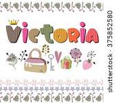 the original spelling of the... | Shutterstock .eps vector #375852580