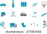 Vector icons pack - Blue Series, outdoor collection - stock vector