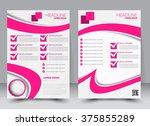 abstract flyer design... | Shutterstock .eps vector #375855289