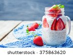 homemade healthy chia seeds and ... | Shutterstock . vector #375863620