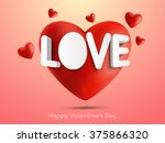 greeting card with 3d text and... | Shutterstock .eps vector #375866320