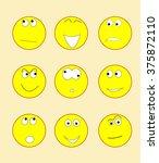 set of smiles | Shutterstock .eps vector #375872110