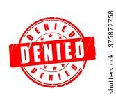 denied vector illustration stamp | Shutterstock .eps vector #375872758