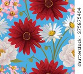 floral seamless patterns with... | Shutterstock .eps vector #375875404