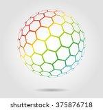 hexagonal abstract vector... | Shutterstock .eps vector #375876718