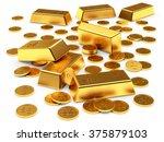 banking concept. golden bars... | Shutterstock . vector #375879103