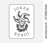 playing cards with the joker... | Shutterstock .eps vector #375882460