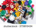 miscellaneous old board game... | Shutterstock . vector #375893434