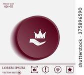 crown   vector icon   Shutterstock .eps vector #375896590