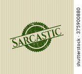 sarcastic rubber seal with... | Shutterstock .eps vector #375900880
