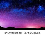 night sky | Shutterstock . vector #375905686