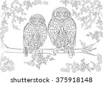 hand drawn ink pattern.... | Shutterstock .eps vector #375918148