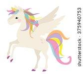 unicorn vector illustration | Shutterstock .eps vector #375940753