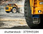 big yellow mining truck.  | Shutterstock . vector #375945184