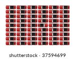 a large group of red... | Shutterstock . vector #37594699