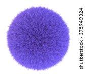 Purple Fur Sphere  3d Render