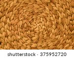 Closeup Texture Of Gold Wicker...