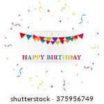 happy birthday card with... | Shutterstock . vector #375956749