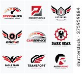 automotive logo set auto set... | Shutterstock .eps vector #375959884